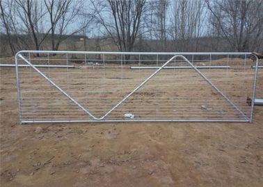 China 4200M X 1170MM 1pcs vertical tube livestock panel N stay galvanized farm gate factory