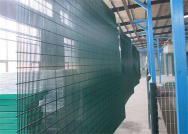 "China 358 wire fence panels 1800mm height x 2515mm width mesh 2""x0.5"" 12.7 x 76.2mm mesh aperture with reinforced 3 v folds factory"