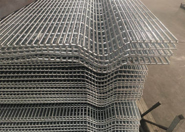 China Affordable Galvanized Anti Climb Metal 3 Wave Bends 358 Security Wire Mesh Fence With Barbed Wire factory