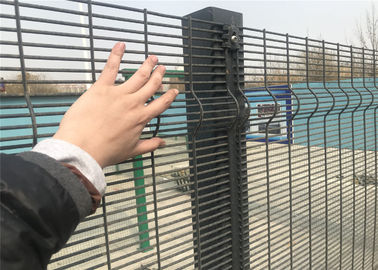 358 High-Security Weld Wire Fence, Powder Painted Mesh Fence Panels RAL 6005, 9003 , Anti Climb and Cut, 12.70mm x 76.20