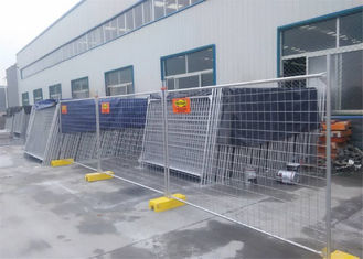 China AS/NZS standard OD 40mm tube temporary construction fence panels 2.1m height fully hot dipped galvanized factory
