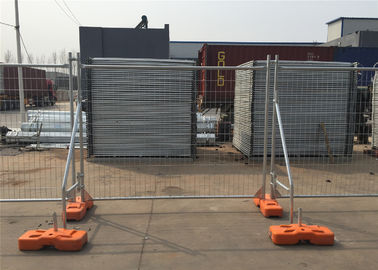 Powder Coated Temporary Construction Fencing Panels OD 32mm*1.4mm 2.1mx2.4m Mesh 60mm*150mm