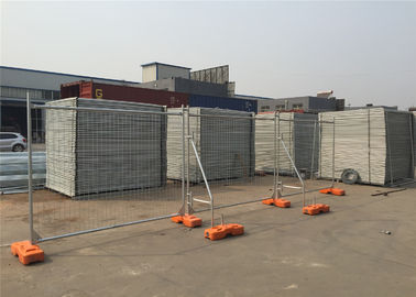 China Construction Temporary Fencing Panels Auckland HDG 42 microns 2.1m*2.4m Width OD 40mm factory