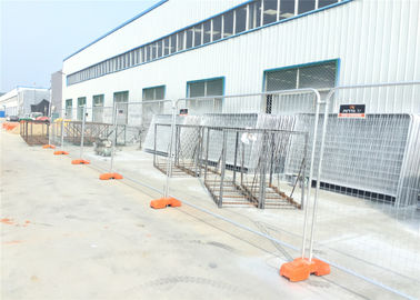 China New Zealand Standard Temporary Fencing 2.1m x 2.4m OD40mm x 1.8mm wall thick mesh 60mm x 150mm diameter 3.80mm factory