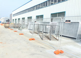 New Zealand Standard Temporary Fencing 2.1m x 2.4m OD40mm x 1.8mm wall thick mesh 60mm x 150mm diameter 3.80mm
