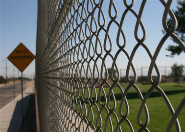 Chain Link Fabric With End Post and Brace US standard Hot Dipped Galvanized 366gram/SQM,
