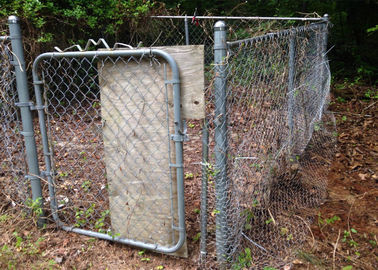 Chain Link Fence with Pedestrian Gates For Powder Stations