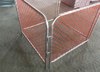 China Chain wire mesh Rubbish Cage Containment for Auckland New Zealand Temporary Rubbish Fence factory