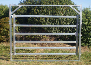 China Six Bars Heavy Duty Metal Oval Rail Cow Fence Panels for Au Market factory