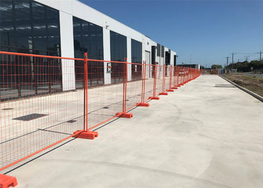 building site security fencing temporary site security fencing 32mm wall thick 1.40mm 2.1m*2.4m