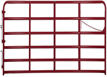 REGULAR GATE  1 3/4″ O.D. round tubular steel in Green or Red
