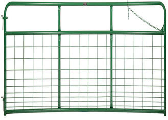 1 3/4″ O.D. round tubular steel WIRE MESH GATE