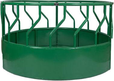 HEAVY BOTTOM  CLOSED ROUND BALE FEEDER Powder Coated RAL 6005