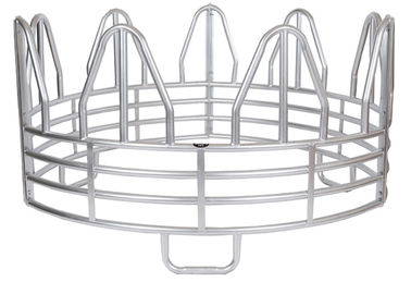 SUPER DUTY 4-RING HORSE GALVANIZED ROUND BALE FEEDER
