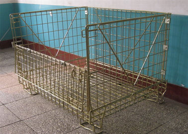China Warehouse Storage Pallet Cage Stackable Wire Mesh Metal Container factory