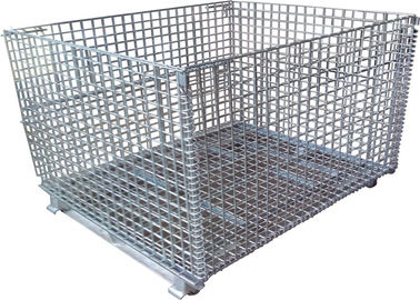 China Color Storage Rack Container Metal Wire Mesh Container factory