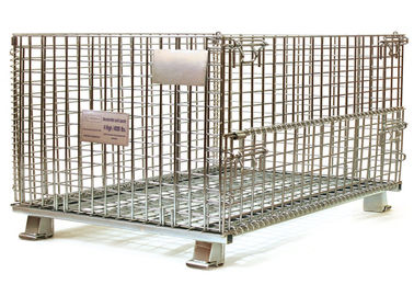 China Steel Foldable Wire Pallet; Wire Container; Wire cage; Warehouse cage factory