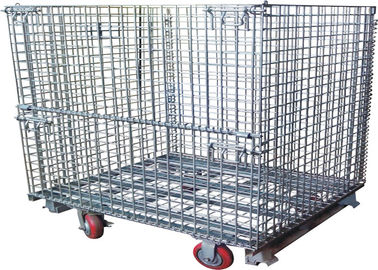 Steel Foldable Wire Pallet; Wire Container; Wire cage; Warehouse cage
