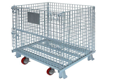 China Widely Use in warehouse and factory storage stackable foldable wire containers factory