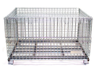 Widely Use in warehouse and factory storage stackable foldable wire containers