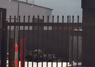 Spear Top Fence, Hercules Fence, Top Spear Fence, Pressed Top Steel Fence Coated at black 2100mm x 2400mm