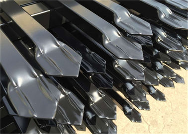 China Spear Top Fence, Hercules Fence, Top Spear Fence, Pressed Top Steel Fence Coated at black 2100mm x 2400mm factory