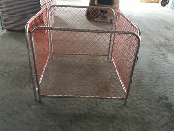 China Rubbish Cage 50mm*50mm orange chain link infilled mesh construction barriers factory