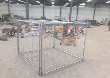 1500mm x 2000mm x 2000mm large size rubbish cage hot dipped galvanized rubbish cage contain