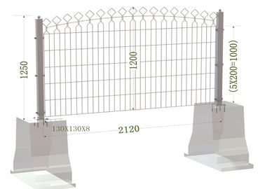 1850mm Twin wire Fence Panels