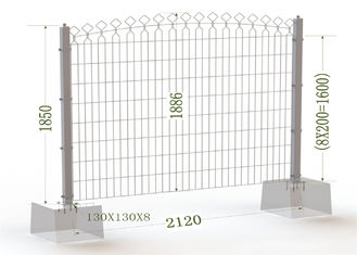 China 1850mm Twin wire Fence Panels factory