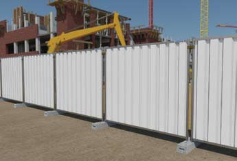 M800 Cityfence RAL 9010 Heras Temporary Hoarding