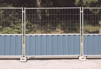 M825 Cityfence + M400 mesh heras Steel Temporary Hoarding