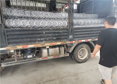 hot dipped galvanized 250g/m2 steel wire reno mattress sea reclamation