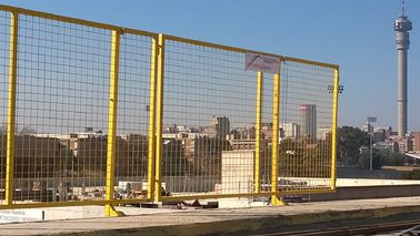 Steel Wire Mesh Fence Used For Edge Fall Protection Barrier