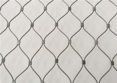 China Hand Woven Flexible Animal Protection Stainless Steel Cable Wire Mesh factory