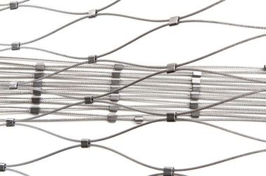 Decorative Architectual Facade Cladding Cable Rod Woven Mesh