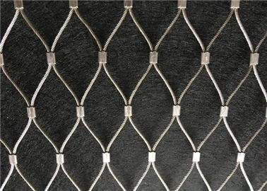 Stainless Steel 316L Ferruled Model And Woven Black Oxide Wire Rope Mesh