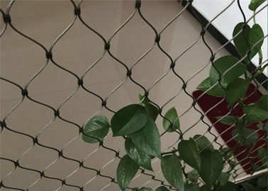 Green Wall Stainless Steel Cable Trellis Diamond / Rhombus Mesh