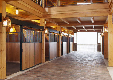 China Horse Stall With Divider Solid Back Wall u Channels Connectors factory