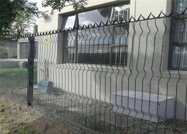 China Grey Colour 358 Fence Security Wire Mesh Fence PVC Coated / Galvanized 4 . 0 MM Wire Diameter factory