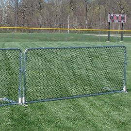 Crowd Control Chain Link Fabric Porta Fence Telescope Bottom Leg Design Ball-Field Applications