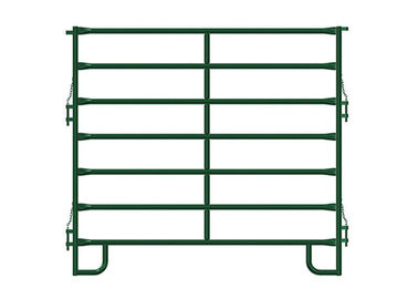 Portable Horse Corral Panels Green Powder Coated Metal Yube Materials