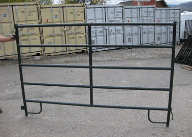 Flat Bar Horse Corral Panels Powder Coated Metal Livestock Corral