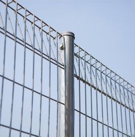 Galvanized Roll Top And Bottom BRC Fence Panel With 50× 150mm