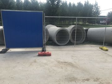 2100mmx2400mm Temporary Fencing Panels OD32mm x 2.00mm Mesh aperture 60mm*150mm diameter 4.0mm HDG 42 microns