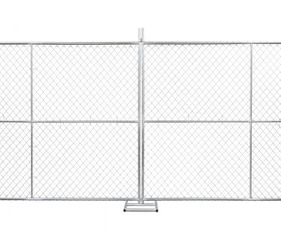 China Temporary chain link fence 6'x12' Cold Zinc Painted at All welds factory