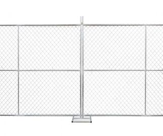 Temporary chain link fence 6'x12' Cold Zinc Painted at All welds