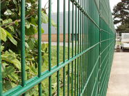 Pvc coated twin wire 656 fence panel/Double rod welded wire fence, twin wire fence, double bar fence supplier