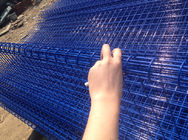 galvanized ornamental double loop wire fence powder coated Blue To Russia supplier