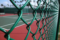 China ot Dipped Galvanized Chain Link Fence With 35-300G per Square Meter Zinc Coating; PVC Coated Chain Link Fence company